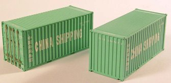 'China Shipping' 20ft Containers (Pair)