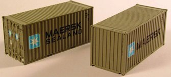 'Maersk' 20ft Containers (Pair)