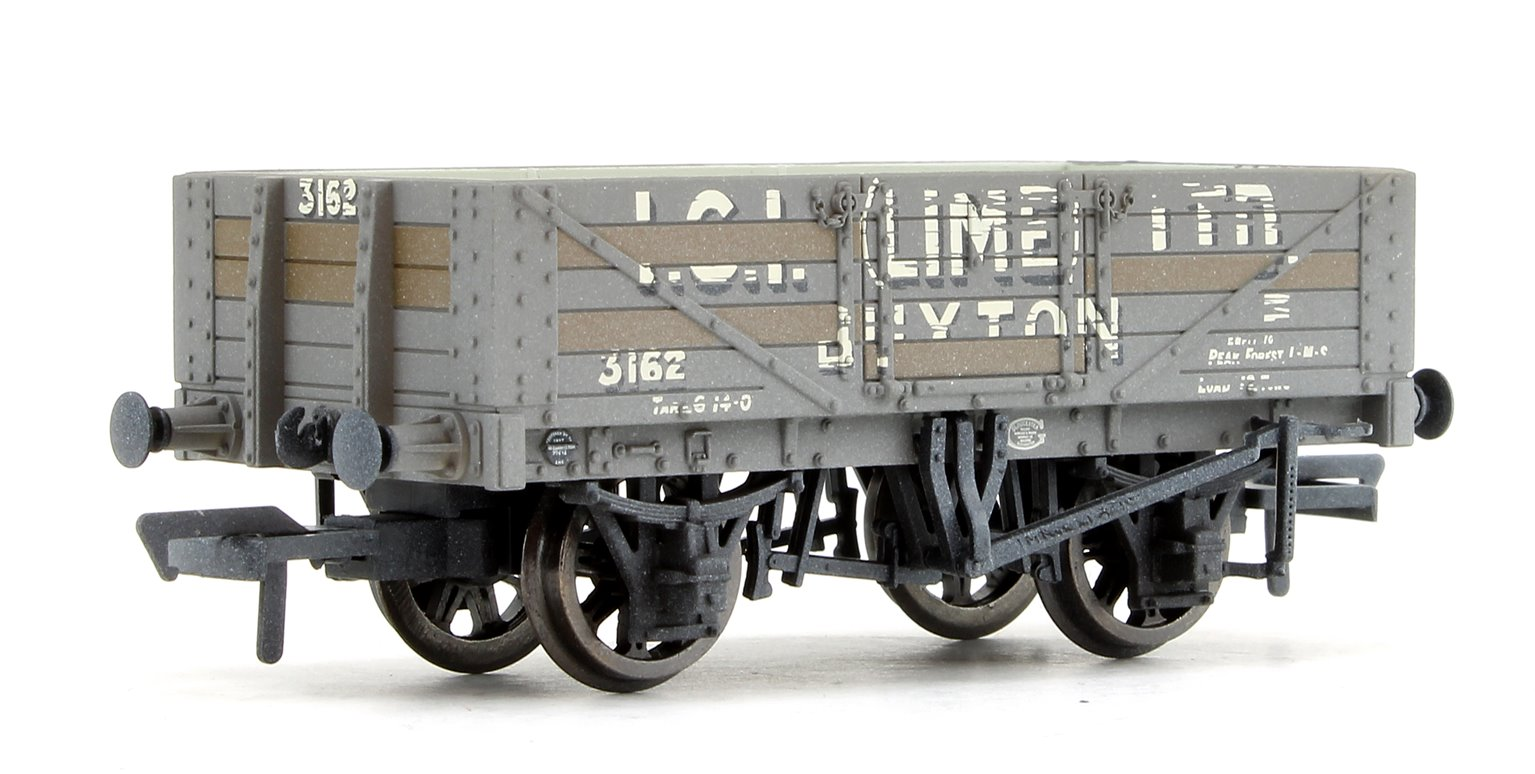5 Plank Wagon Steel Floor 'ICI (Lime)' with Load Weathered