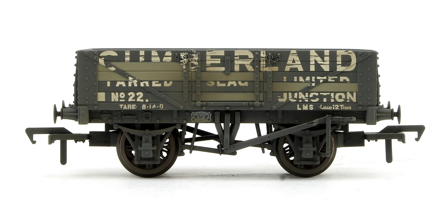 5 Plank Wagon Wooden Floor 'Cumberland' with Load Weathered