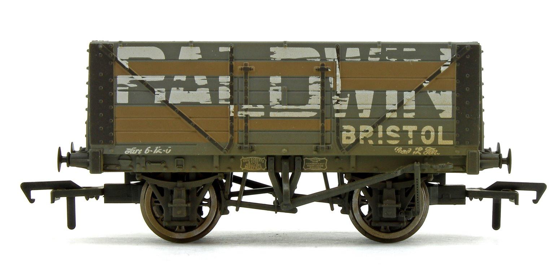 'Baldwin' 7 Plank Fixed End Wagon (Weathered)