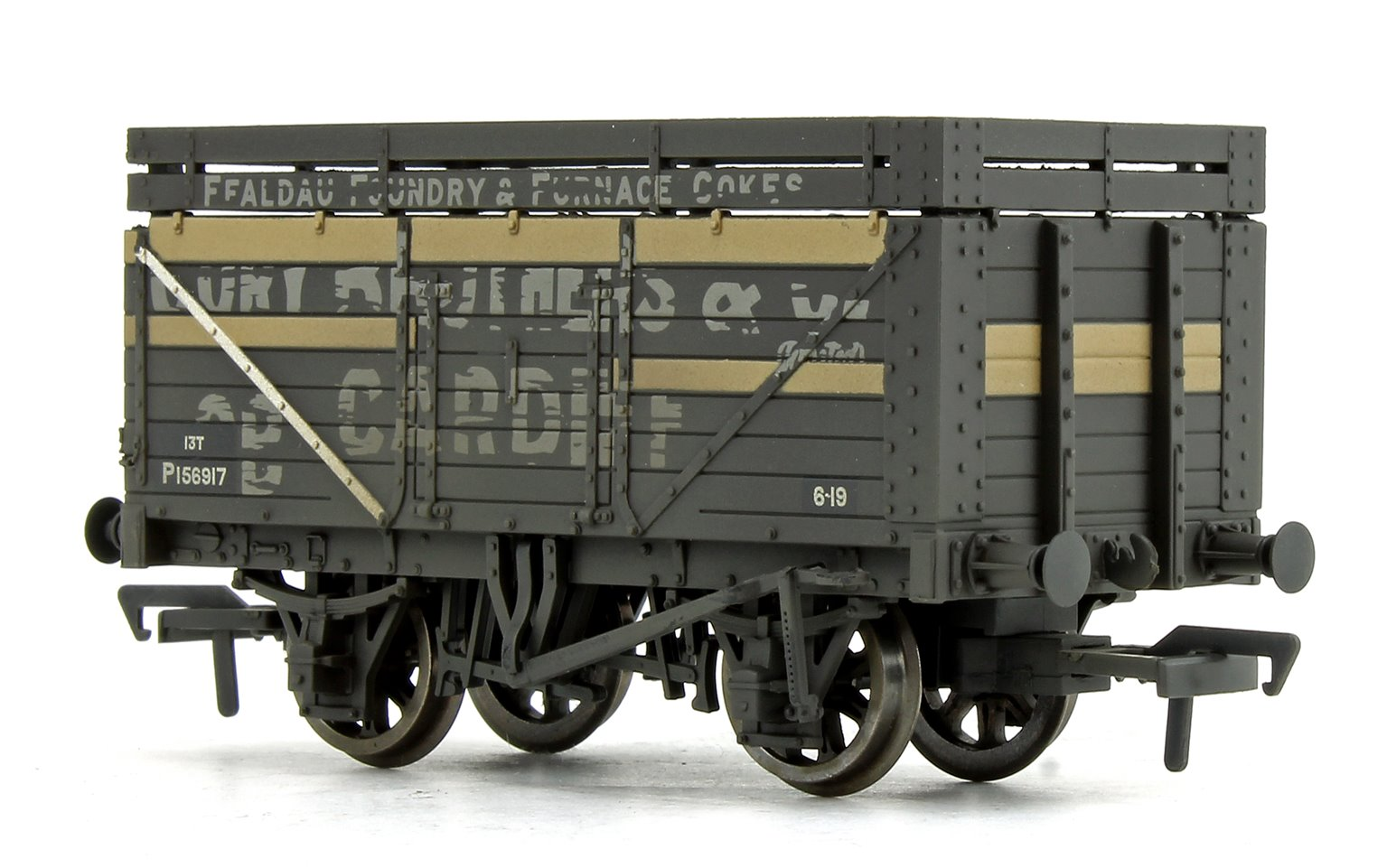 7 Plank Wagon with Coke Rails 'Cory Brothers' (P Number) Weathered