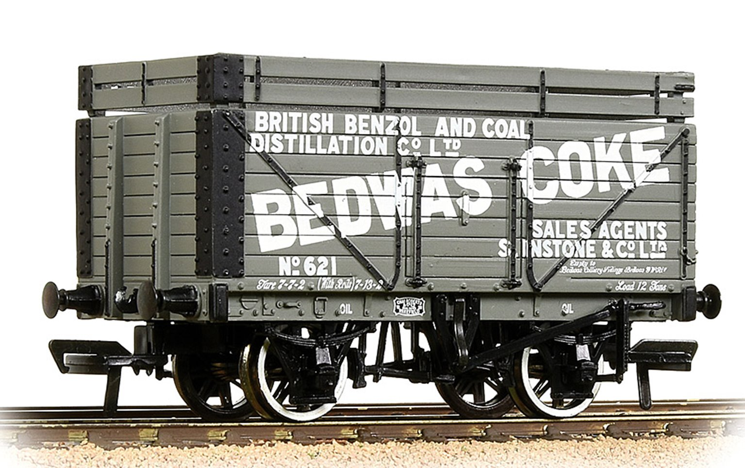 8 Plank Wagon Coke Rails 'Bedwas' Grey