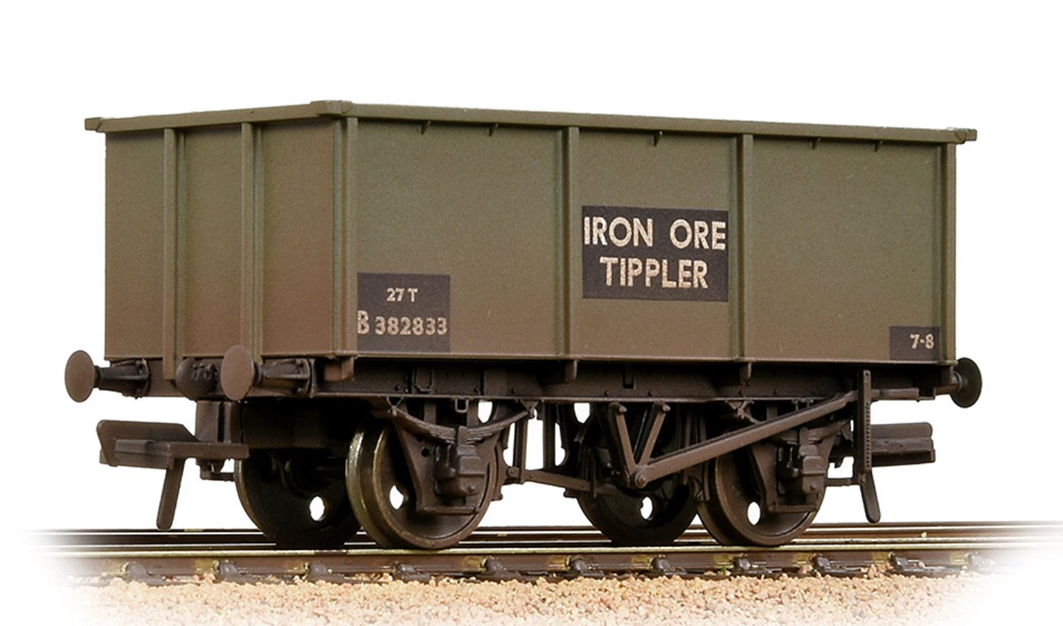 BR 27T Steel Tippler BR Grey (Early) 'Iron Ore' - Weathered