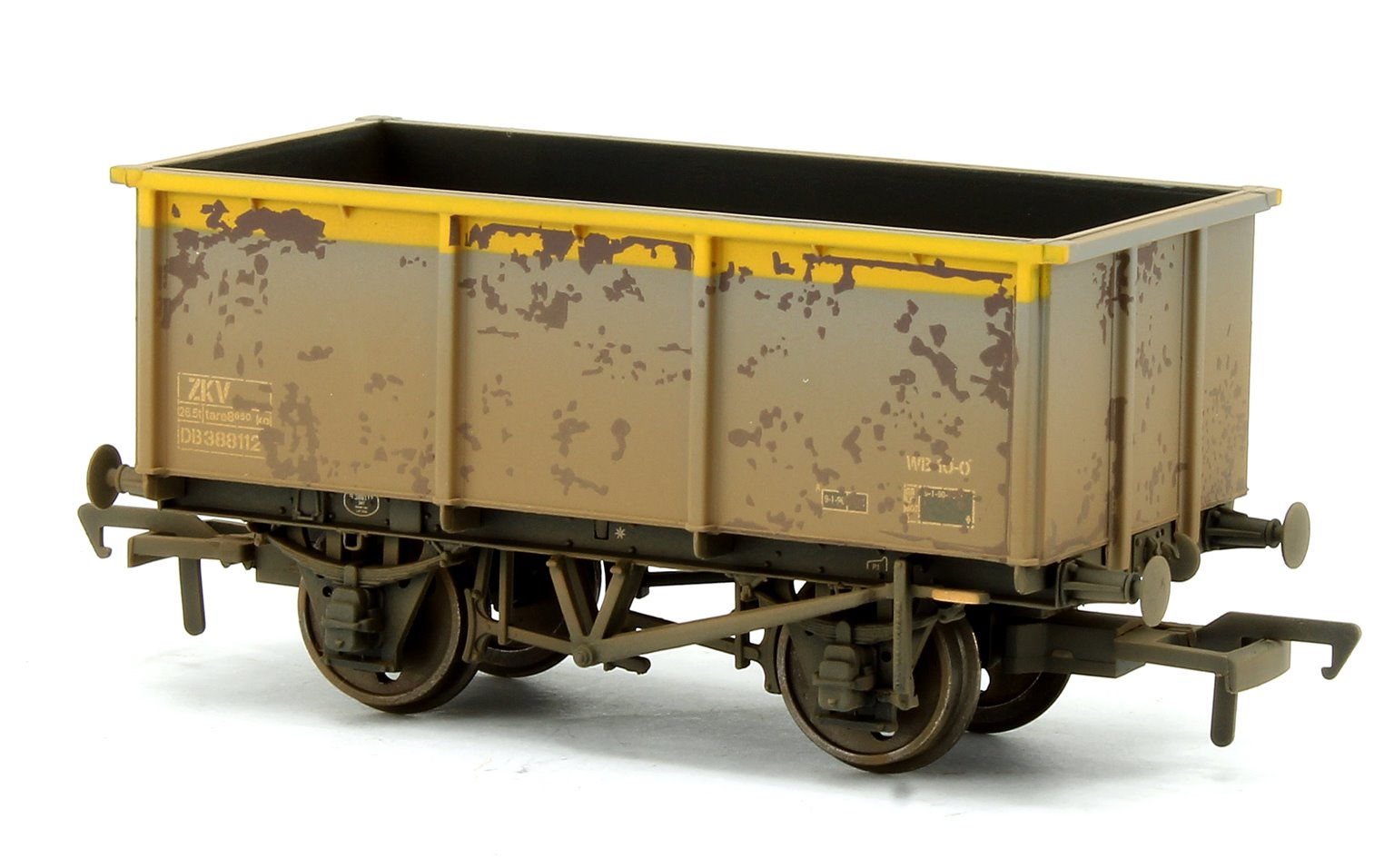 Set of three 27T Steel Tippler ZKV Wagons BR Grey & Yellow (Weathered)