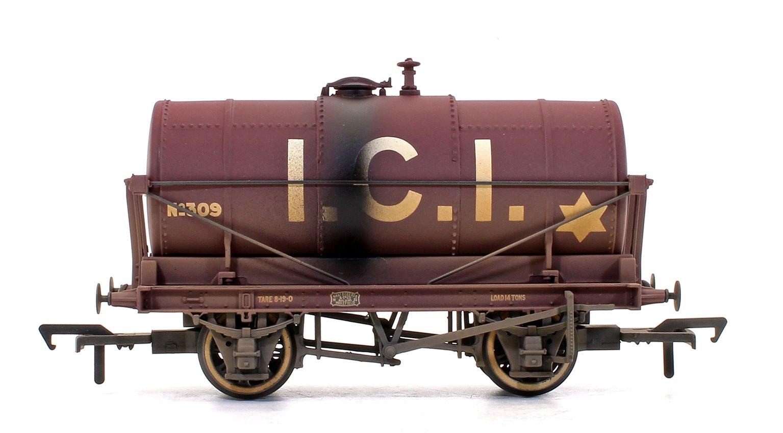14 Ton Tank Wagon 'ICI' Maroon (Weathered Edition)