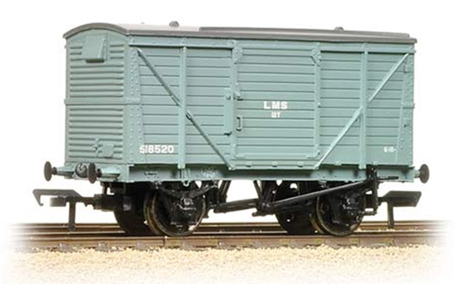 12 Ton Planked Ventilated Van LMS Grey