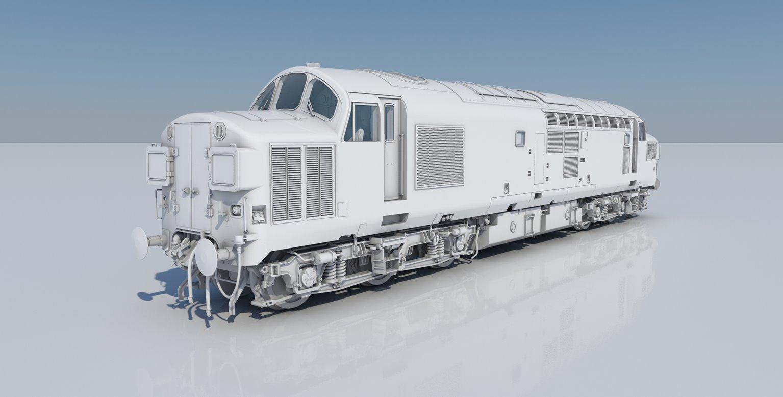 Class 37/0 D6704 BR Green Diesel Locomotive DCC Sound