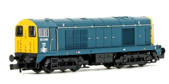 Class 20 048 BR Blue Cabside Double Arrow Indicator Discs Locomotive