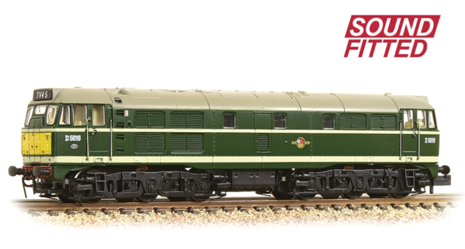 Class 31/1 D5616 BR Green (Small Yellow Panels) Diesel Locomotive DCC Sound