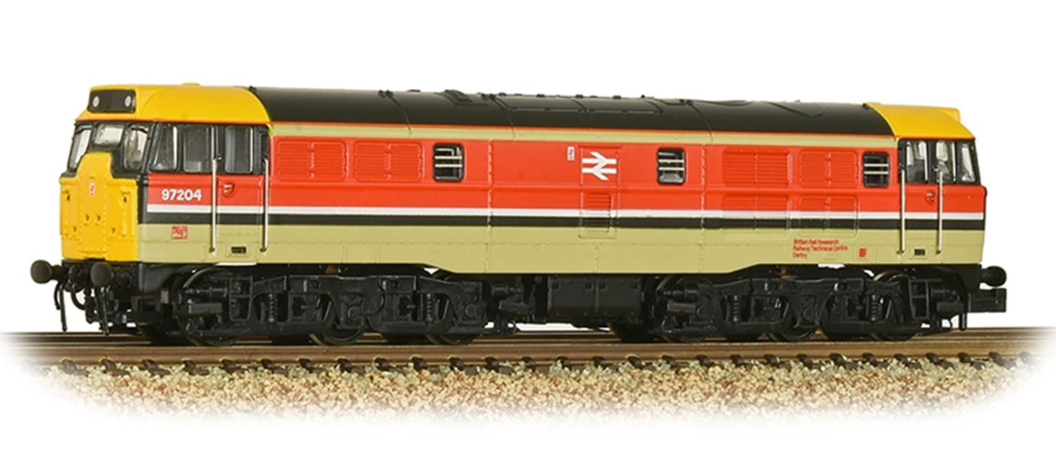 Class 31 No. 97204 in BR RTC Grey & Red livery
