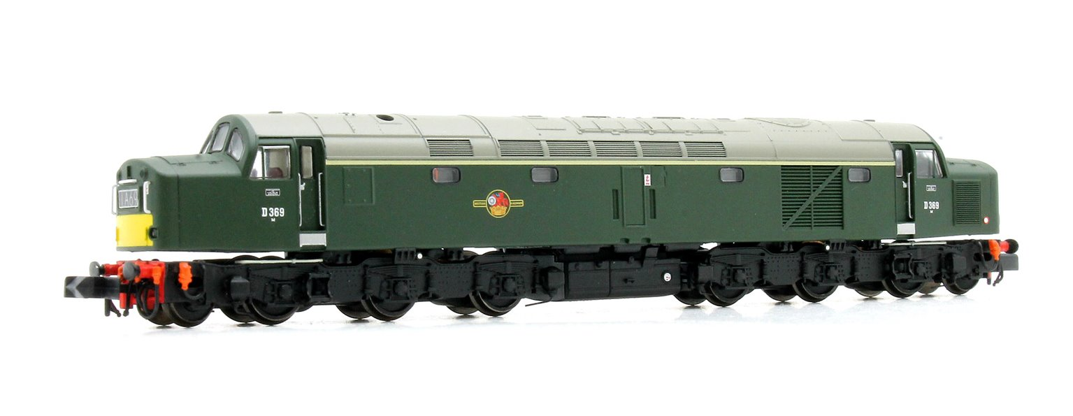 Class 40 D369 BR Green Centre Head Code Small Yellow Panel