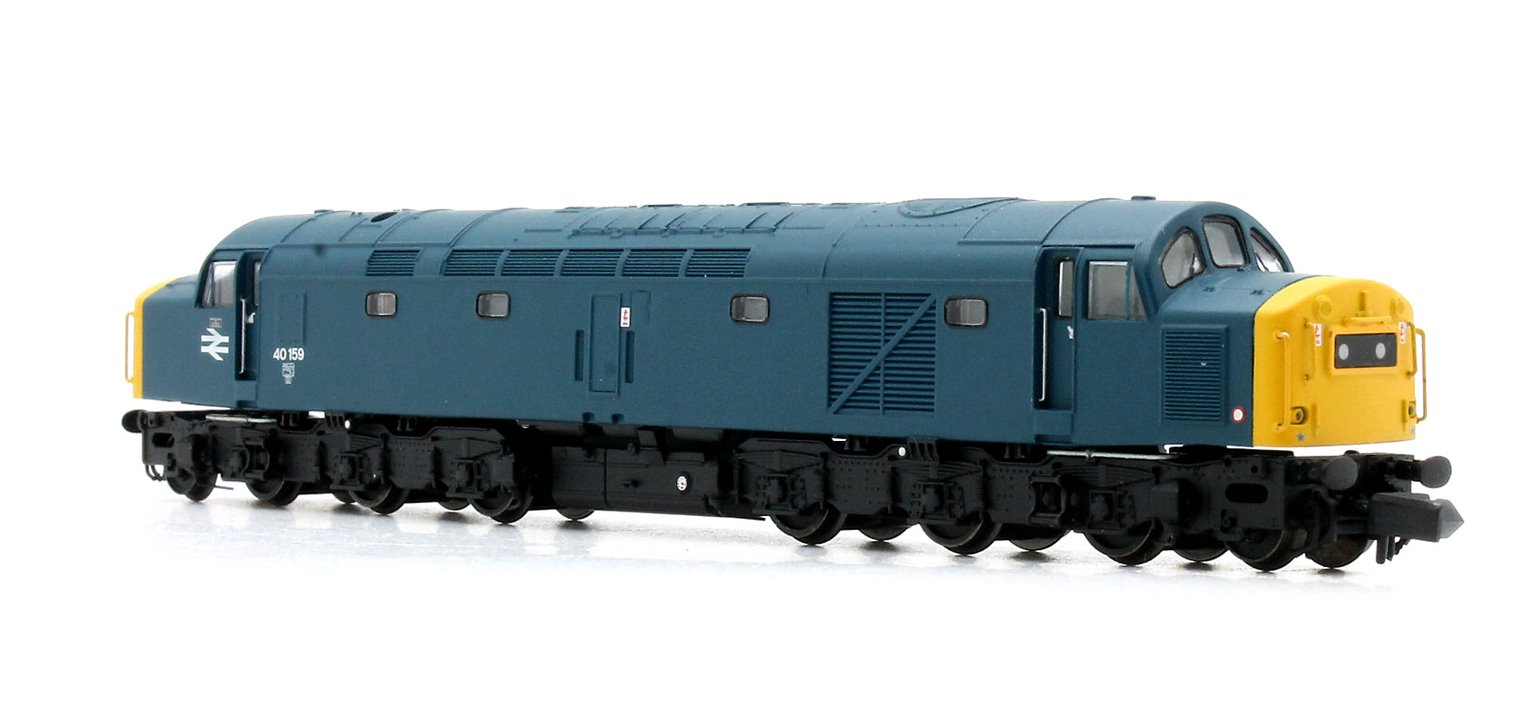 Class 40 40159 BR Blue Centre Head Code Full Yellow Ends
