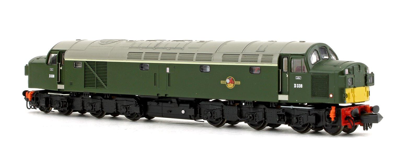 Class 40 Split Headcode D338 BR Green (Small Yellow Panels)