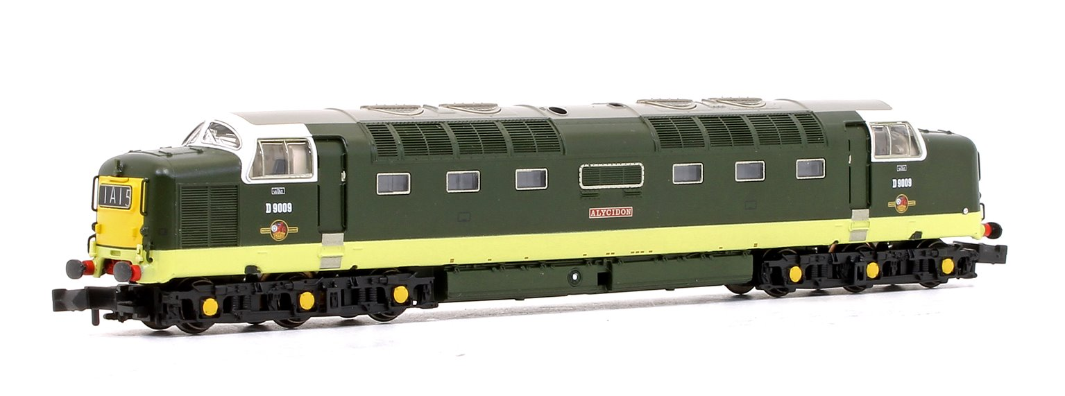 Class 55 Deltic No. D9009 Alycidon - BR Two-Tone Green Small Yellow Panel