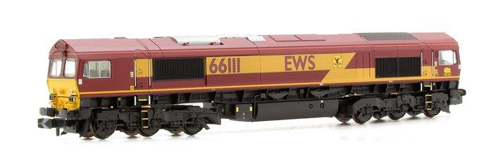 Class 66 111 EWS Livery Diesel Locomotive