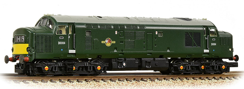Class 37/0 Centre Headcode D6890 BR Green (Small Yellow Panels)