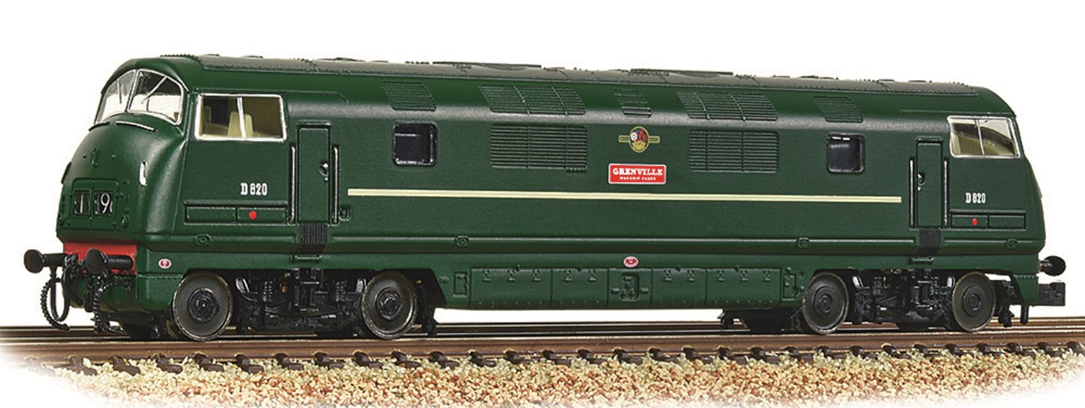 Class 42 'Warship' D820 'Grenville' BR Green (Late Crest)