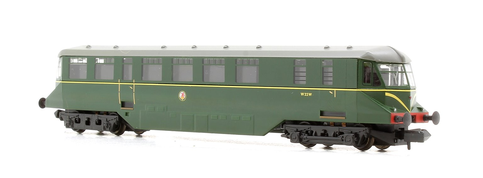 GWR Railcar W22W BR Brunswick Green Speed Whiskers - FREE UK POST