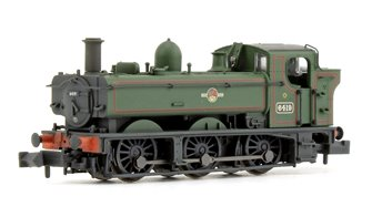 Class 64xx Pannier Tank No. 6419 BR Lined Green Late Crest Weathered