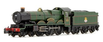 'Tiverton Castle' BR Green Early Emblem Castle Class 4-6-0 Steam Locomotive No.5041