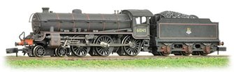 Class B1 #61045 BR Lined Black Early Emblem - Weathered - FREE UK POST
