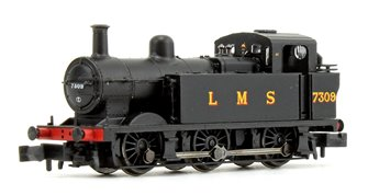 Class 3F Jinty LMS Black 0-6-0 Tank Locomotive No.7309