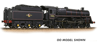 BR Standard 5MT with BR1 Tender 73050 BR Lined Black (Late Crest)