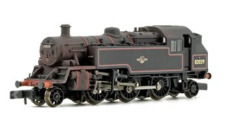 BR Standard 3MT Tank 82029 BR Lined Black Late Crest (Weathered Edition)
