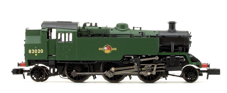 Standard Class 3MT BR Plain Green (Late Crest) 2-6-2 Tank Locomotive No.82020