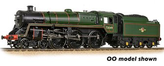 BR Standard 5MT with BR1 Tender 73049 BR Lined Green (Late Crest) - DCC Sound