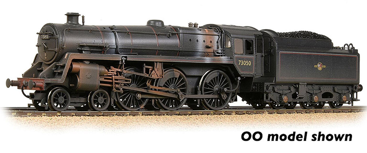 BR Standard 5MT with BR1 Tender 73050 BR Lined Black (Late Crest) Weathered