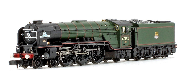 Class A1 'Tornado' BR Lined Brunswick Green Early Emblem Locomotive #60163