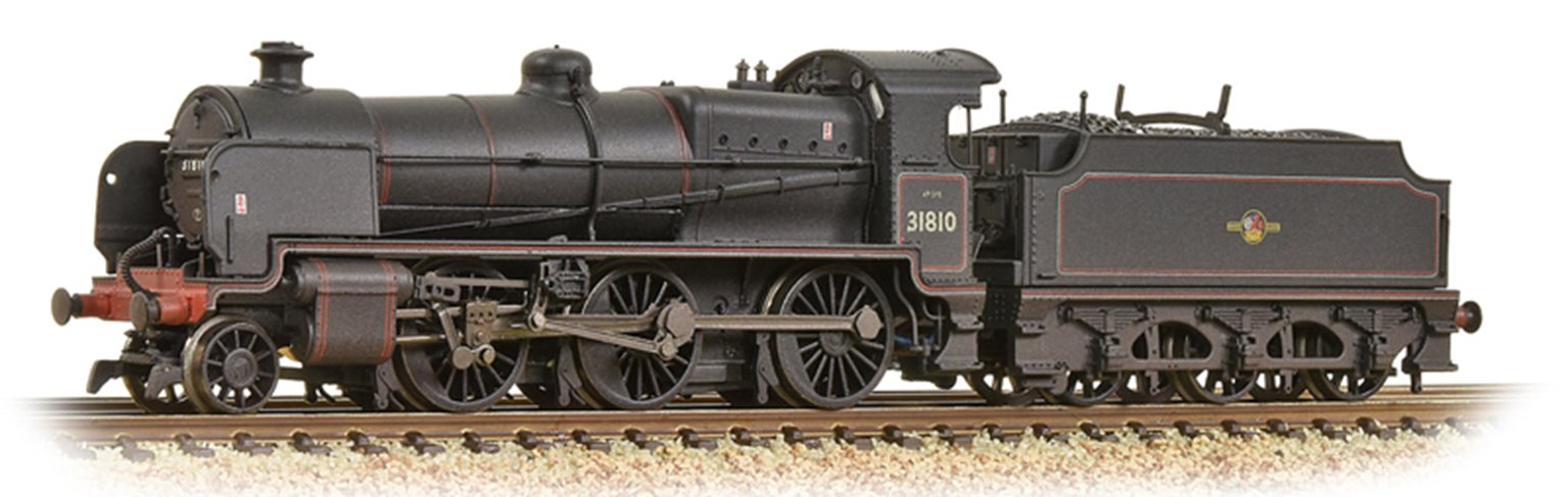N Class No. 31810 in weathered BR Black (Late Crest) livery
