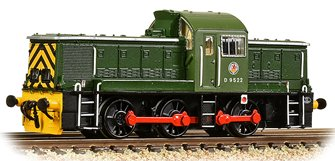 Class 14 D9522 BR Green (Wasp Stripes)