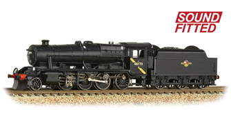 LMS Stanier Class 8F BR Black (Late Crest) 2-8-0 Steam Locomotive No. 48773 DCC Sound
