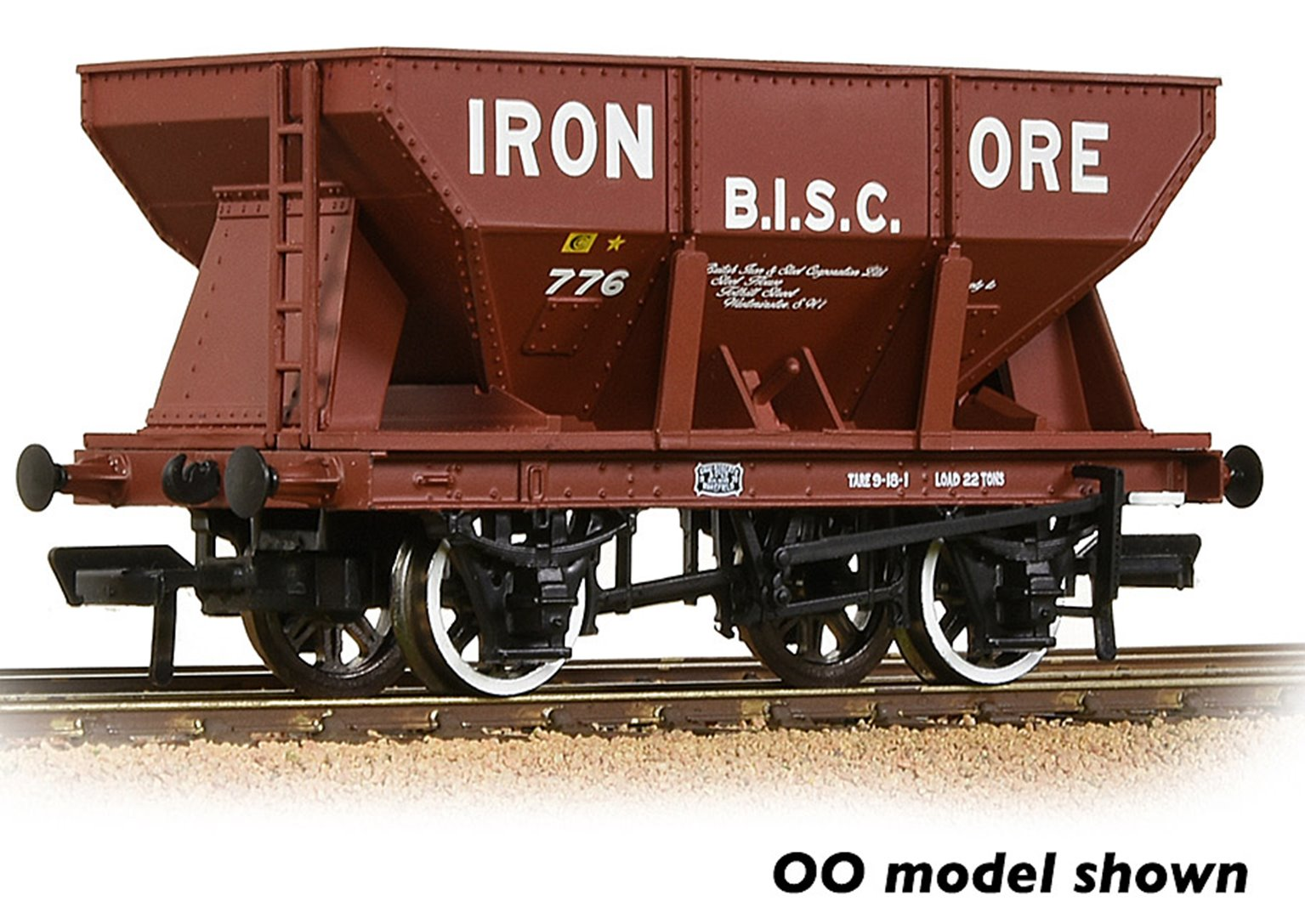 24T Iron Ore Hopper 'B.I.S.C. Iron Ore' Red