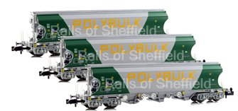 Set of 3 'Polybulk' Bulk Grain Hopper Wagons