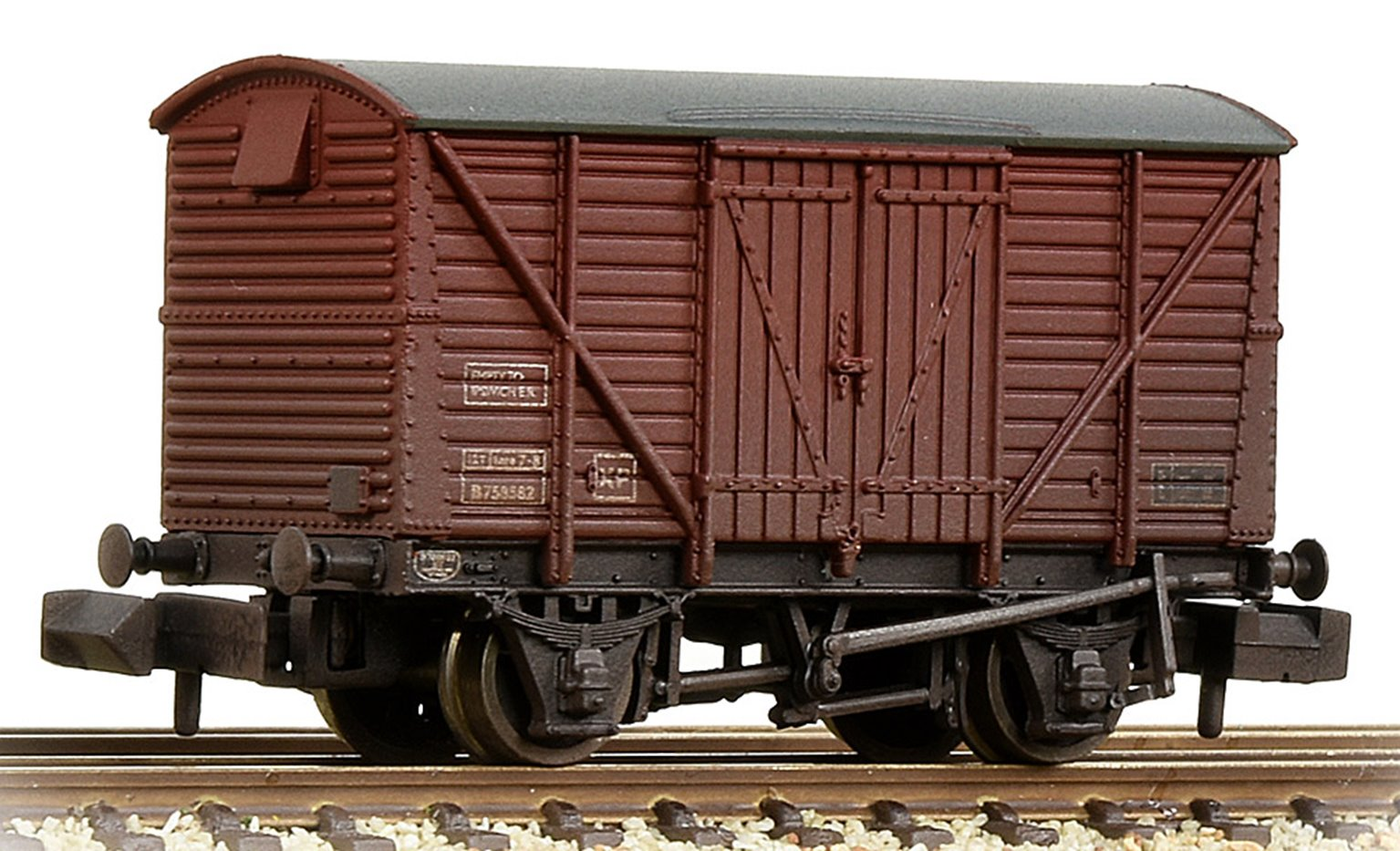 BR 12T Ventilated Van Planked Sides BR Bauxite (Late) Weathered