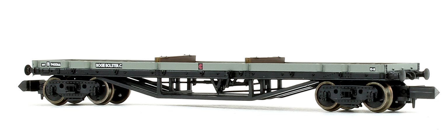30T Bogie Bolster C BR Grey (Early) With Wagon Load