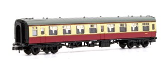 BR Mk1 TSO Tourist Second Open BR Crimson & Cream M3755