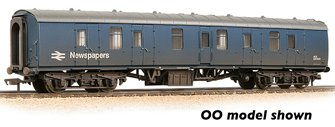 BR Mk1 BG Brake Gangwayed BR Blue (Newspapers) Weathered
