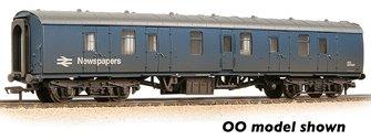 BR Mk1 BG Brake Gangwayed BR Blue (Newspapers) Weathered