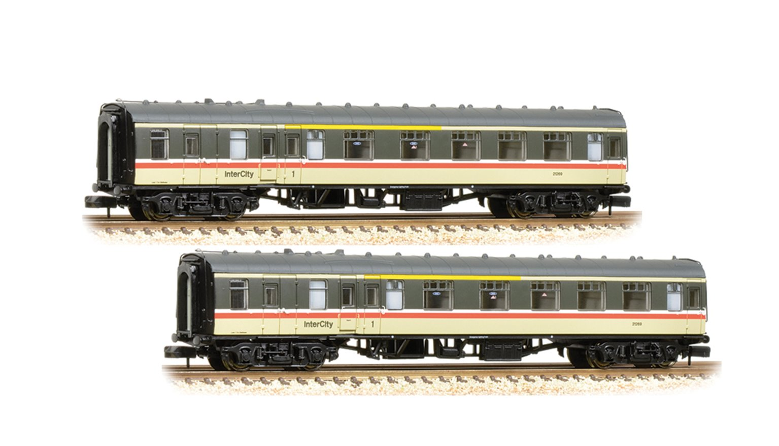 Pair of MK1 BCK Brake Corridor Composite BR Intercity Coach
