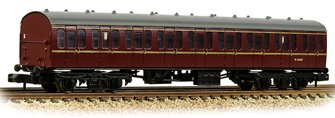 BR Mk1 57ft 'Suburban' S Second BR Maroon