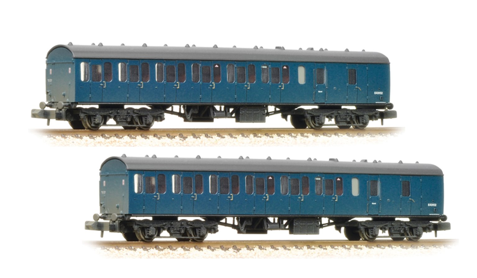 Pair of MK1 Suburban Brake End BR Blue (Weathered) Coaches
