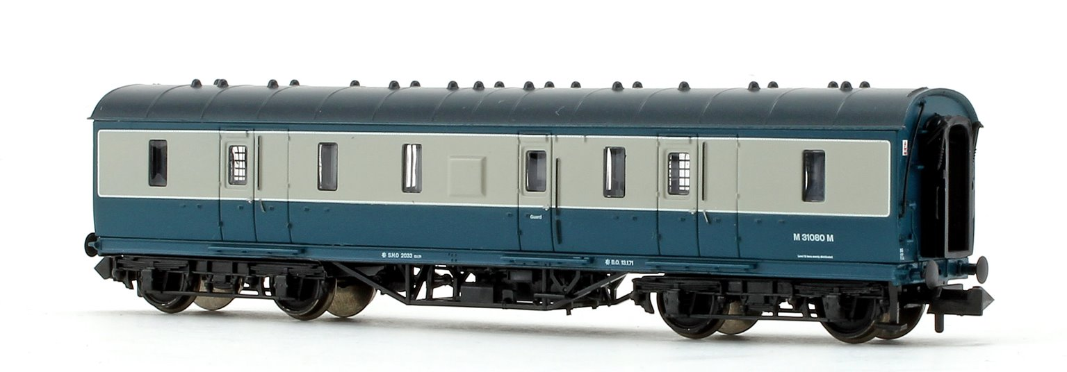 BR Blue/Grey 50ft ex-LMS Full Brake Coach M31080M