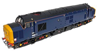 Class 37/4 DRS Blue Unnumbered Diesel Locomotive