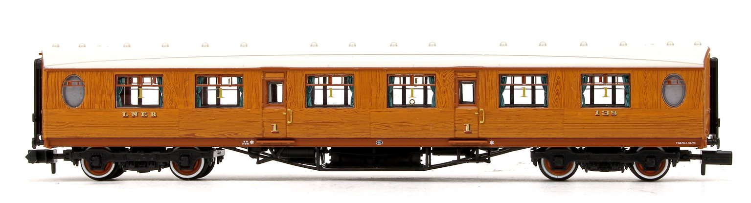 LNER Thompson First Corridor LNER Teak Effect No.138