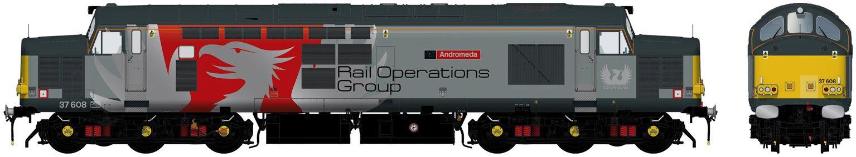 Class 37/6 37608 'Andromeda' Europhoenix Diesel Locomotive DCC Sound